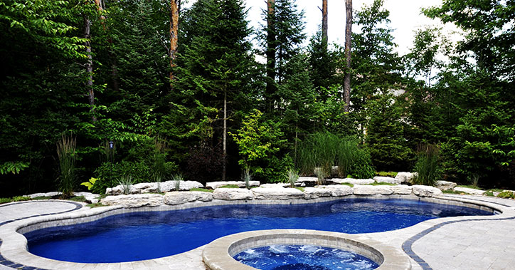 pool with trees adjacent
