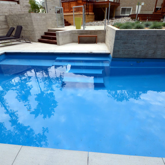 small minimalist concrete pool