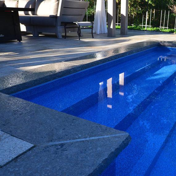 marbelite pool with stone coping